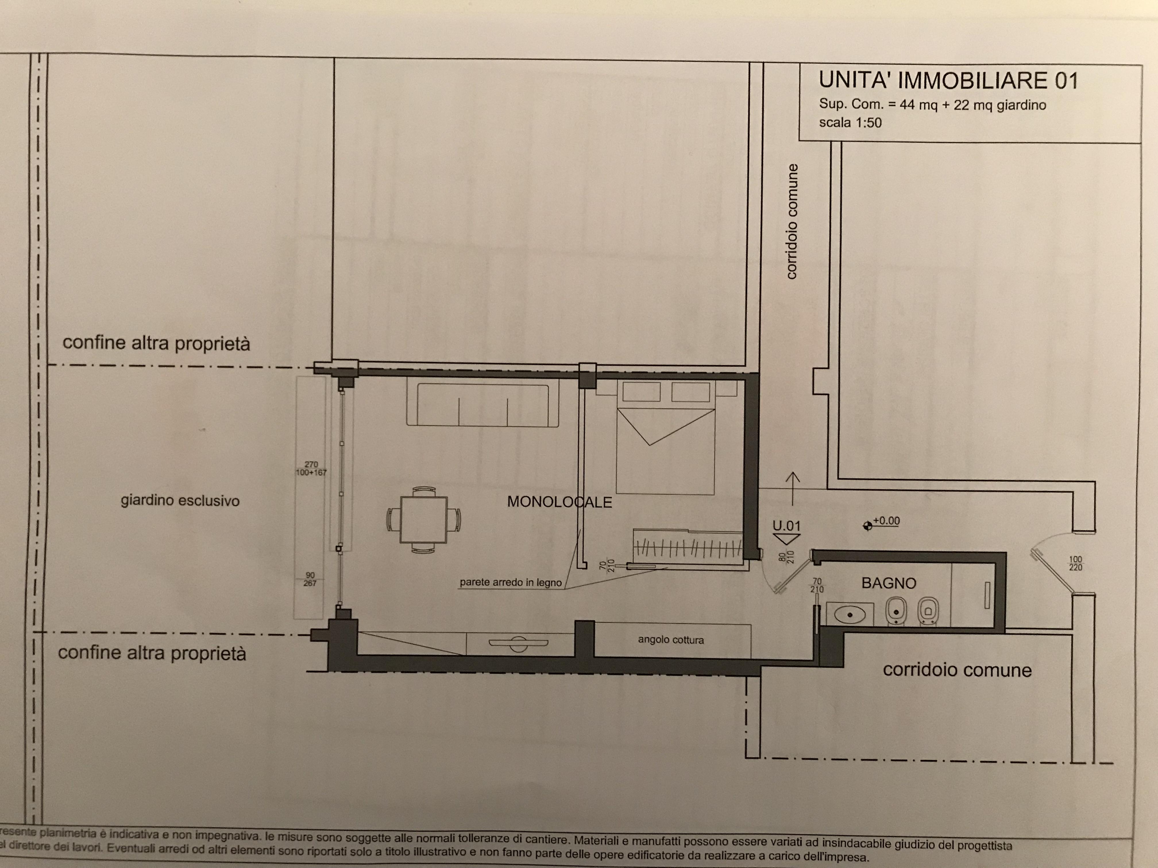 Via Dante 44 mq. + 22 giardino privato 230.000