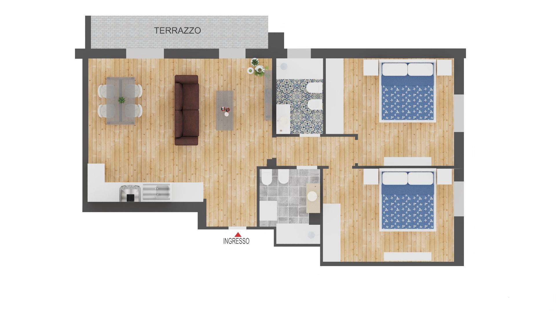 Mazzini Via Orlandi 90 mq. con garage nuovo da impresa 265.000