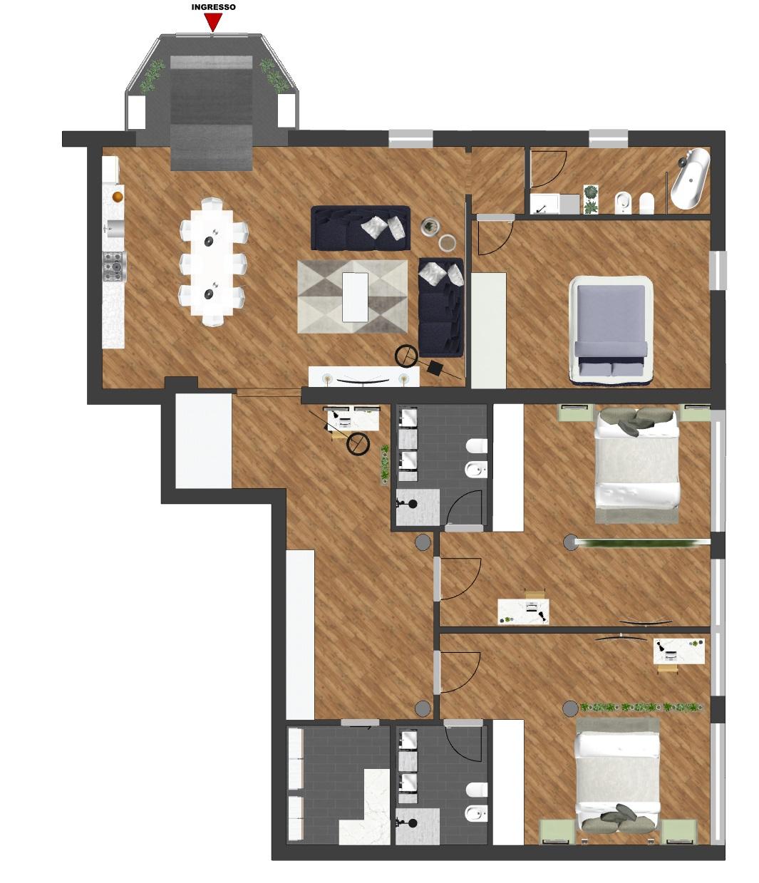 Vendita appartamento 160 mq. nuovo da impresa zona Mazzini