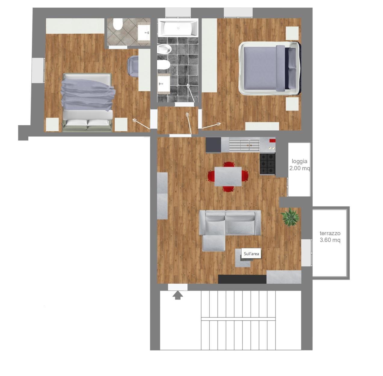 Vendita appartamento ad.ze Villa Laura 85 mq.