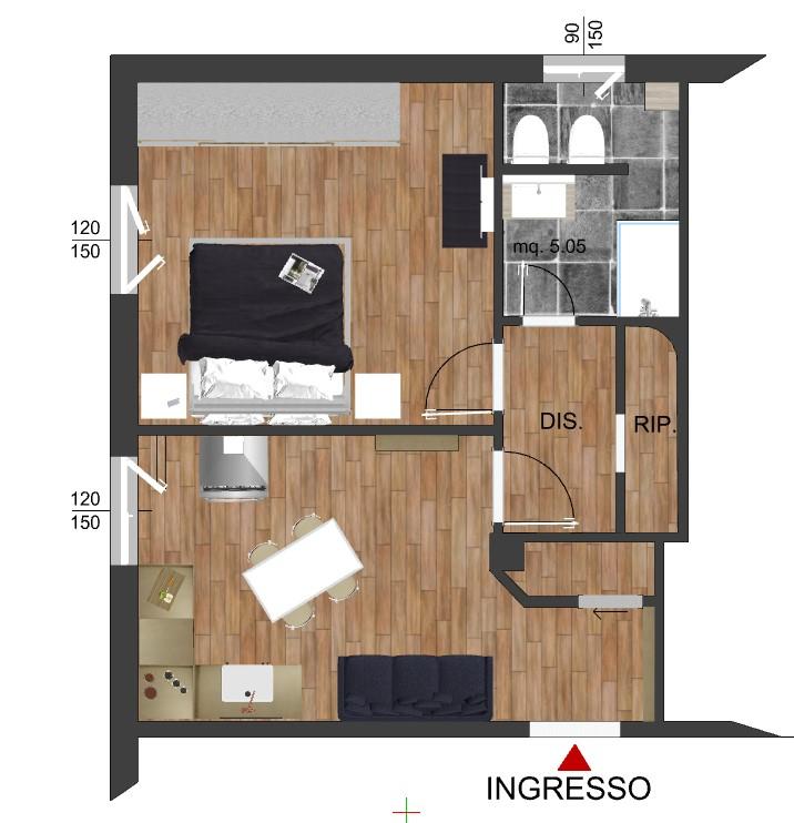 Appartamento in vendita Via Benedetto Marcello, 51 mq. ristrutturato
