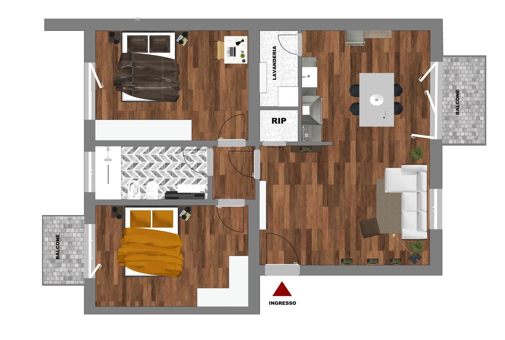 Appartamento in vendita Via Magni 90 mq.