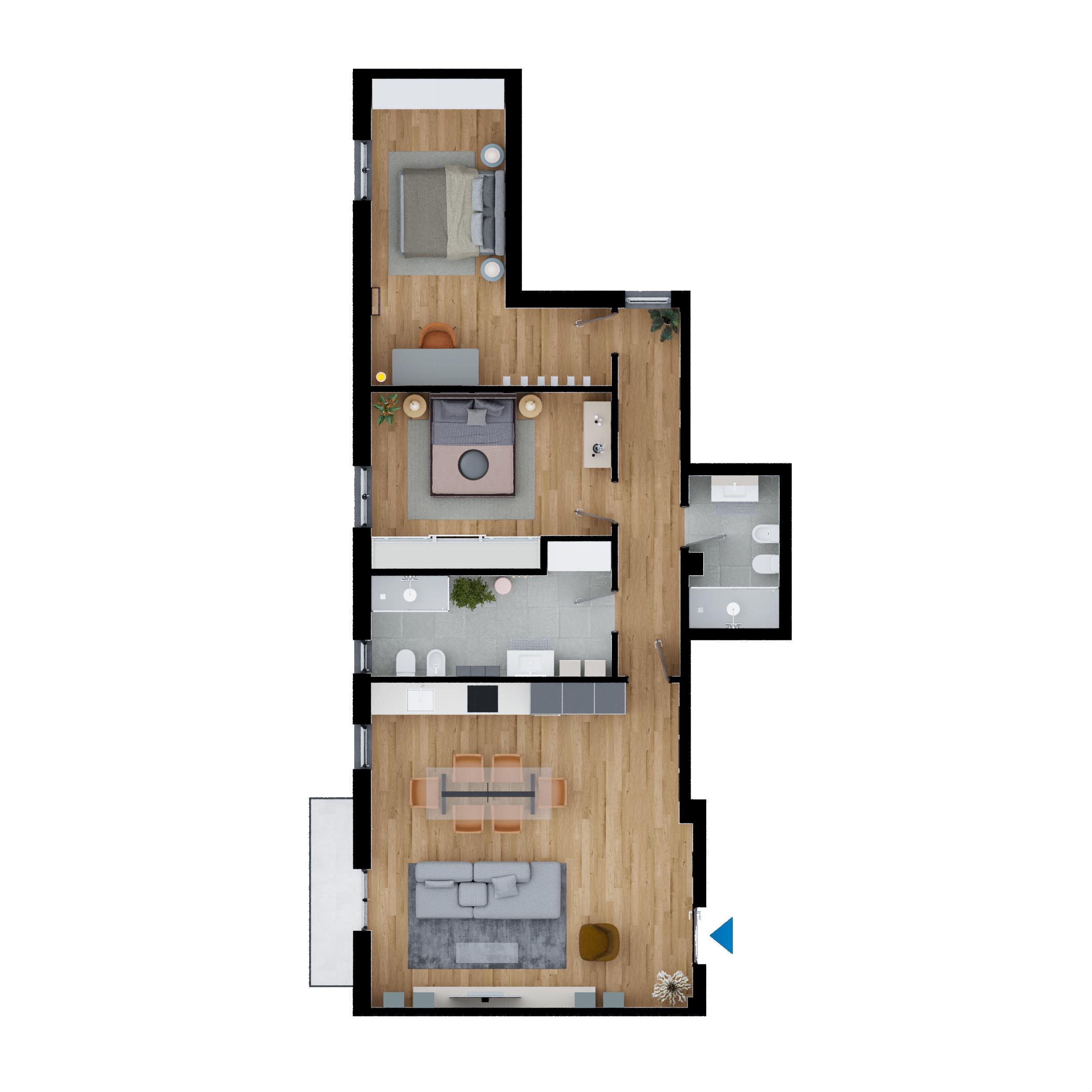 Appartamento ristrutturato in vendita Via Boldrini 115 mq.